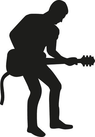 rockstar: Guitar playing man silhouette
