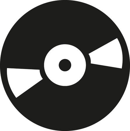 disc jockey: Vinyl record icon
