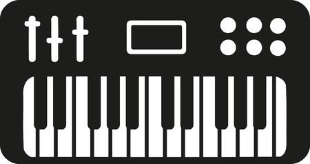 electronic: Electronic piano keyboard