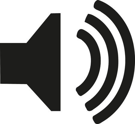 audio speaker: Audio speaker icon Illustration