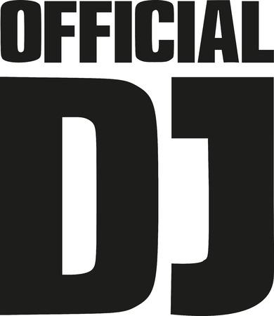official record: Lettering - official DJ Illustration