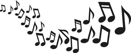 Notas de la música de onda