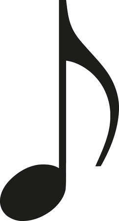 music note icon royalty free cliparts vectors and stock rh 123rf com Hiking Icon Vector Vector Drum Icon