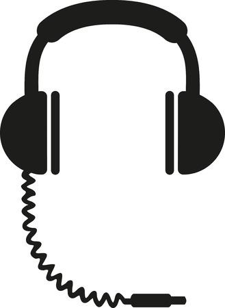 jag: Headphones with jag plug icon Illustration