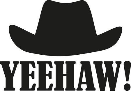 Yeehaw with western hat