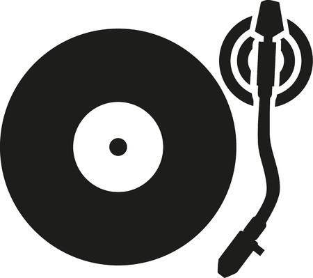 Vinyle Turntable lecteur de disques Banque d'images - 58133639
