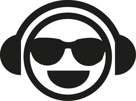 smiley: DJ smiley with sunglasses