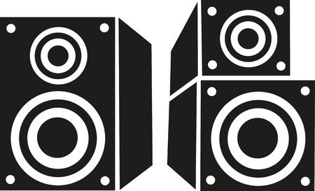loud speaker: Loud speaker and bass box Illustration
