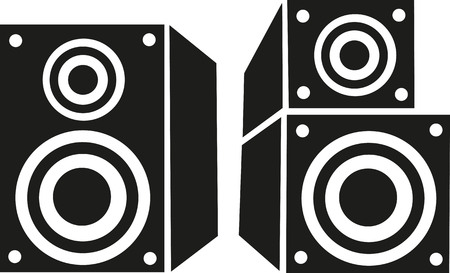 loud: Loud speaker and bass box Illustration