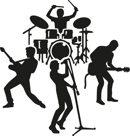 band silhouette: Rock band silhouette