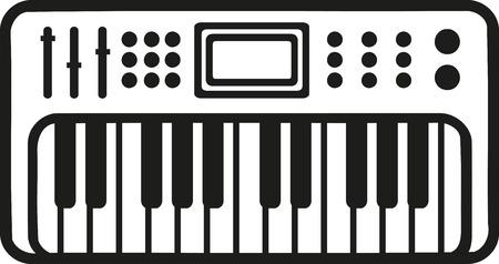 electronic: Electronic piano keyboard icon