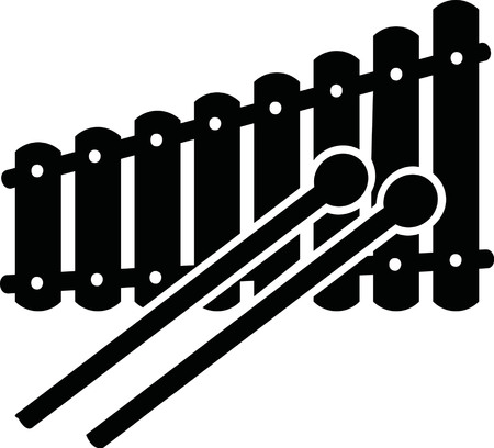 xylophone: Xylophone with mallets
