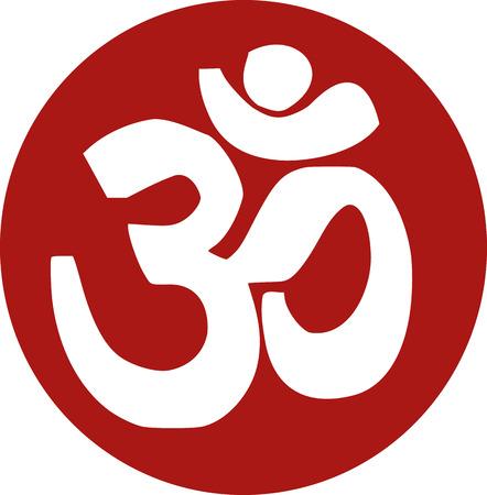 sanskrit: Om sanskrit icon Illustration