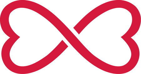 infinity sign: Infinity sign heart shape Illustration