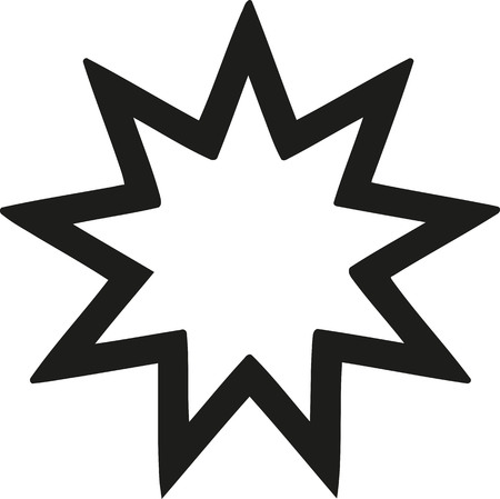 scriptures: Nine-pointed star Bahai faith