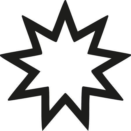 bahai: Nine-pointed star Bahai faith
