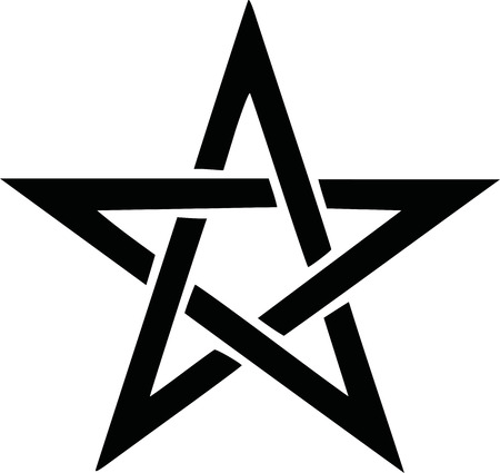Pentagramm Symbol Vektorgrafik
