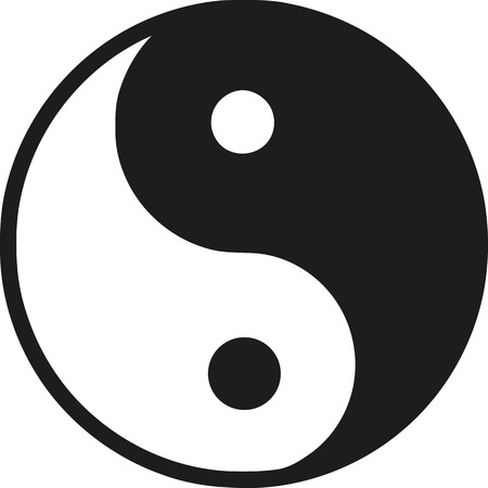 Ying yang-symbool Stock Illustratie