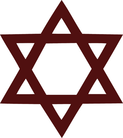 israel jerusalem: David star symbol Illustration