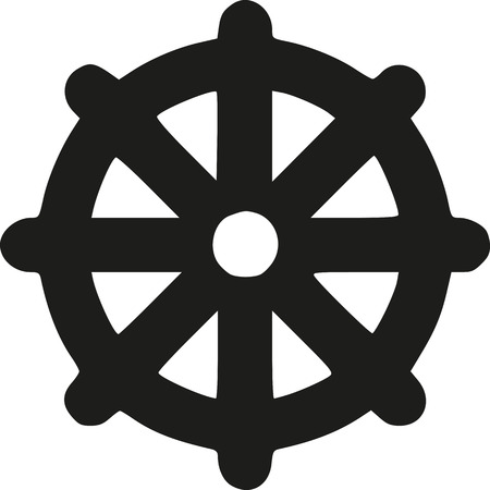 sanskrit: Dharma Wheel - Wheel of life