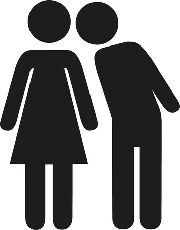 dating icons: Man kiss woman pictogram