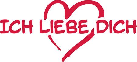 I love you - german