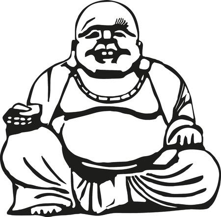 big belly: Happy buddha with big belly