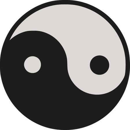yang: Ying Yang horizontal Illustration