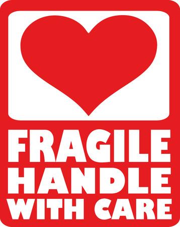 manipular: Corazón - frágil manejar con cuidado