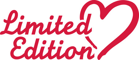 limited edition: Limited edition with heart
