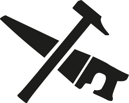 marteau croisés et scie