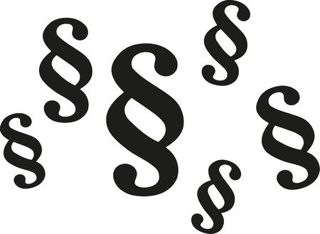Paragraph symbols Illustration