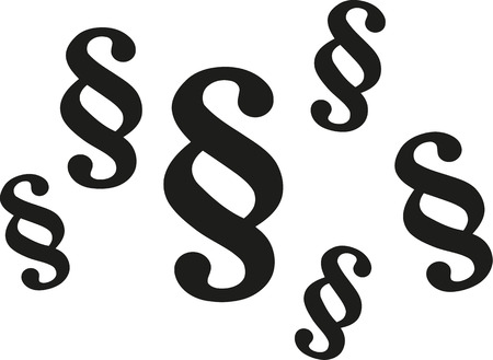 symbols: Paragraph symbols Illustration