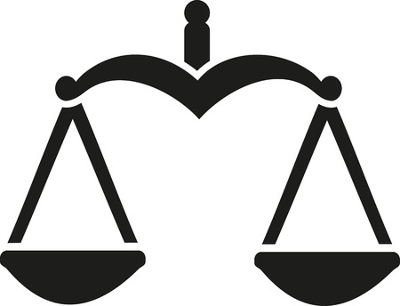 scale of justice: Justice Scale balance Illustration