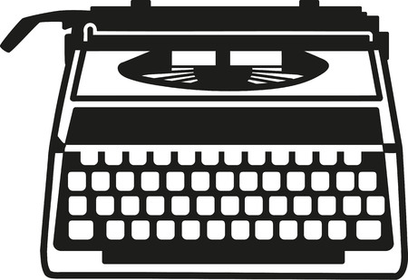 old typewriter: Typewriter old machine Illustration