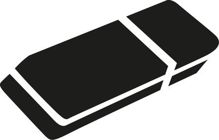eraser: Eraser icon Illustration