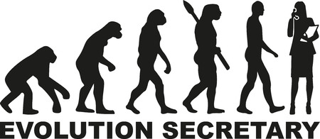 Evolution secretaresse Vector Illustratie