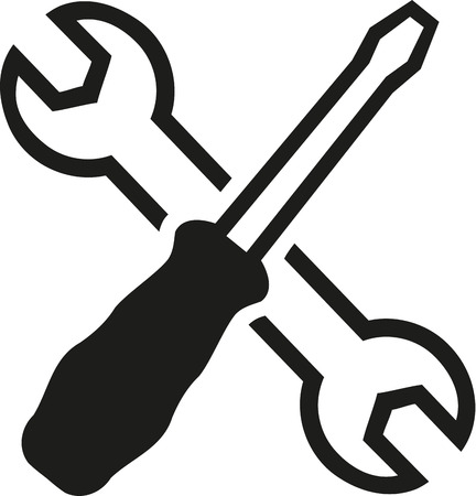 Crossed wrench screwdriver