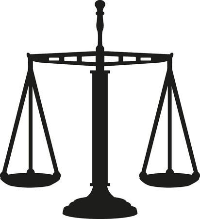 scale of justice: Big Justice Scale equal