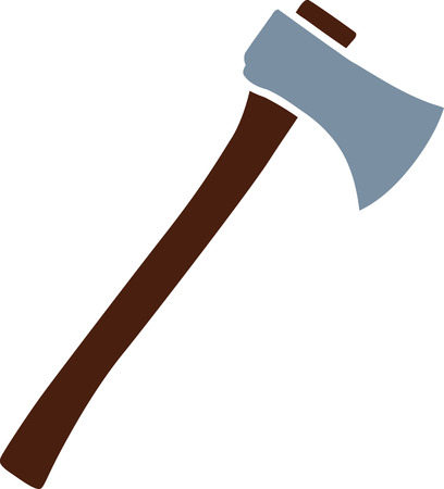 Axe icon in two colors