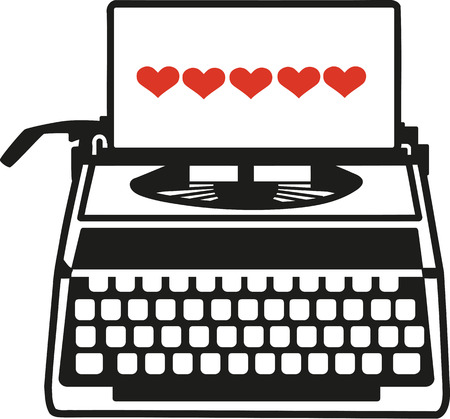 type writer: Vintage typwriter with love letter