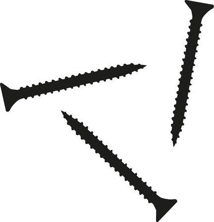 tornillos: Tres tornillos Vectores