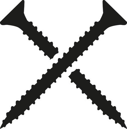 tornillos: tornillos cruzados Vectores