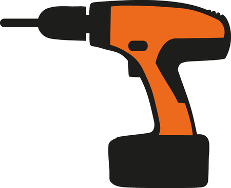drill: Orange electro screwdriver