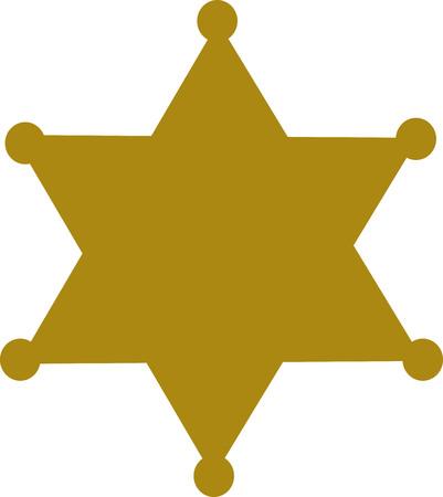 sheriff: Sheriff badge star Illustration