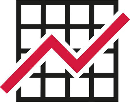 growth: Chart growth Illustration