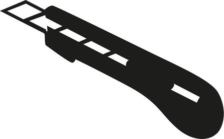 Cutter knife Vektoros illusztráció