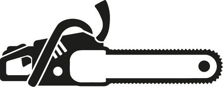 chain saw: Chain saw icon Illustration