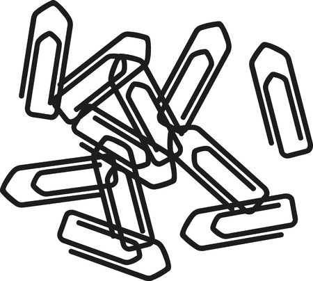 paper clips: Bunch of paper clips Illustration