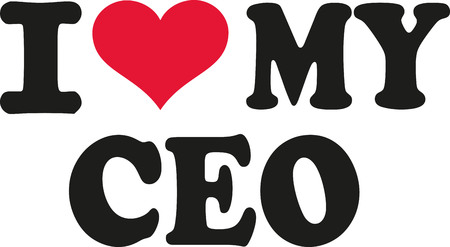 ceo: I love my ceo Illustration